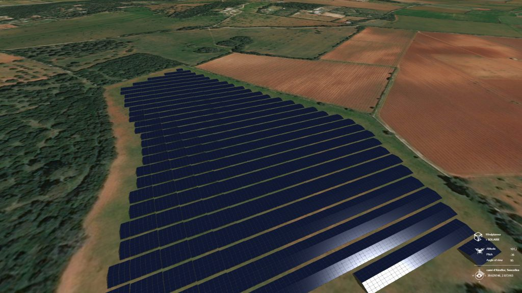 Solarplanner - solar field 3D world
